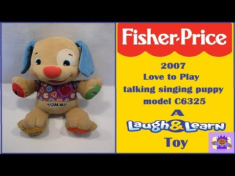 2007 Fisher-Price Laugh And Learn Love To Play Talking Singing Puppy Plush Model C6325