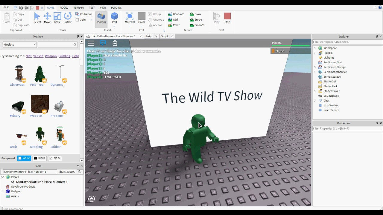 4 Roblox Clickdetector Tutorial How To Script On Roblox Roblox Scripting Tutorial How To Make A Working Tv By Fathernature