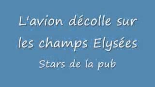 Скачать L Avion Décolle Sur Les Champs Elysées Stars De La Pub YouTube