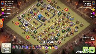 War VietKing Bowler+Wicht & Hog full Max 3 Star Any TH12 Bases War | Clash Of Clans War