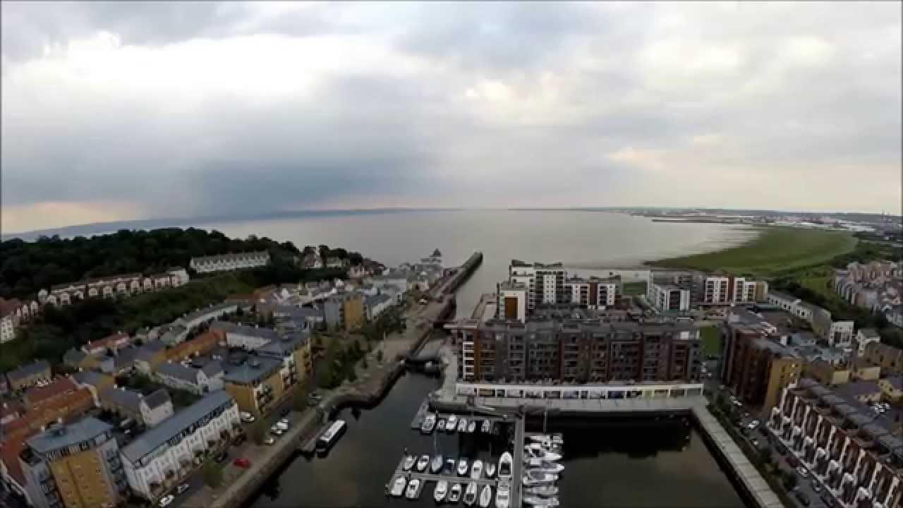 Aerial views of Portishead Marina. - YouTube