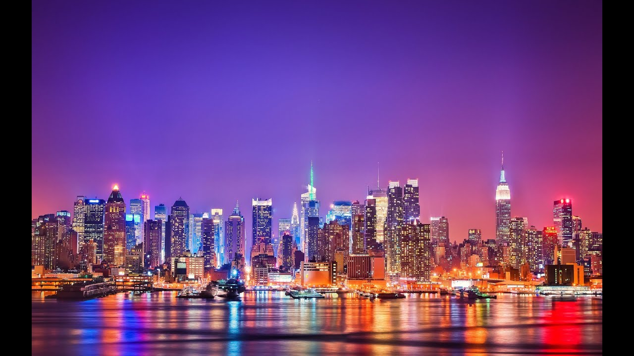 New York By Night - Time-lapse and New York Times Square ...