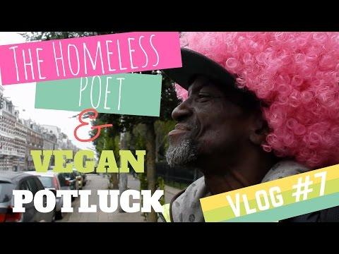 Vlog #7 - Vegan Potluck Picknick in Amsterdam Park and the Roofless Poet / Dakloze Dichter