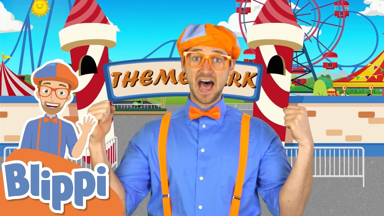 Blippi's Theme Park Song! | Kids Songs & Nursery Rhymes | Educational Videos for Toddlers