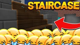 There's a staircase for that (HYPIXEL BEDWARS FUNNY MOMENTS!)