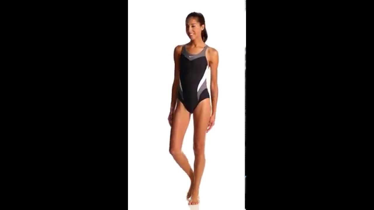 a0bce25afe Nike Swim Women's Victory Color Block Power Back Tank One Piece Swimsuit |  SwimOutlet.com