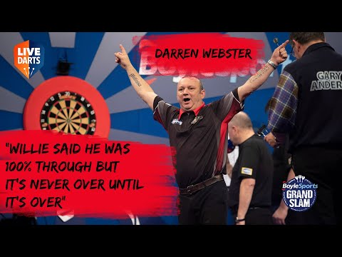 """Darren Webster: """"Willie said he was 100% through but it's never over until it's over"""""""