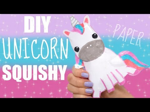 DIY PAPER UNICORN SQUISHY   how to make a squishy without foam #14