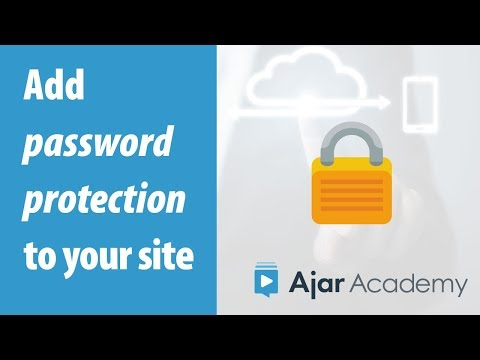 How To Password Protect Part Of Your Website - Ajar Academy