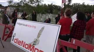 #IdleNoMore Hay River #NWT greets @PMHarper