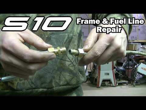 2001 S10 Frame and Fuel Line Repair - YouTube