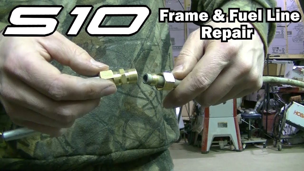 2001 S10 Frame And Fuel Line Repair Youtube