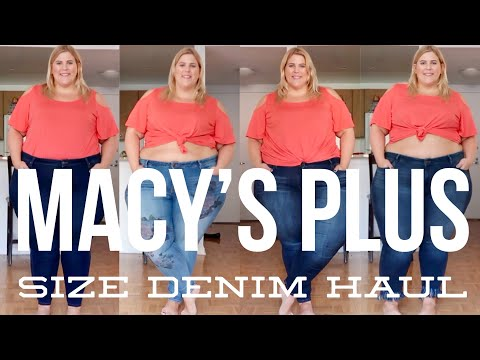 Macy's Fall Plus Size Denim Haul