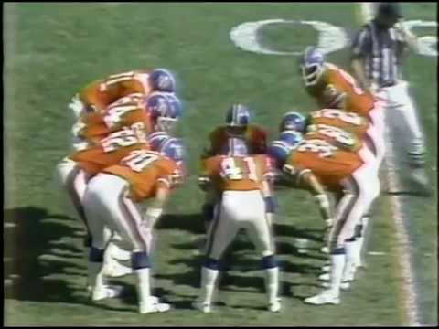 Seattle Seahawks vs Denver Broncos 1979 Week 4