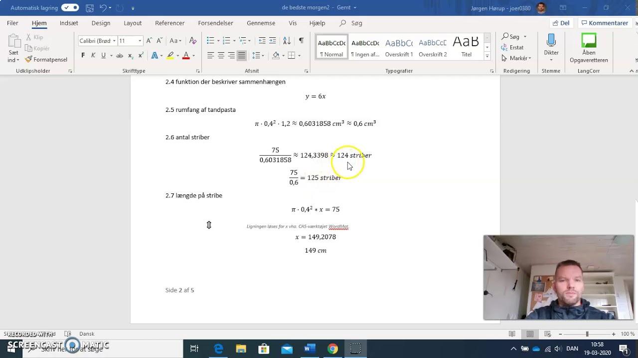 gennemgang af afleveringsopgave matematik 7 kl