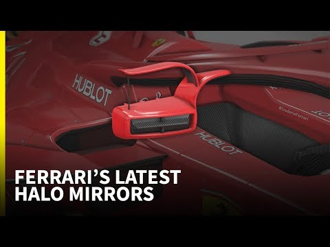The latest changes to Ferrari's halo mirrors