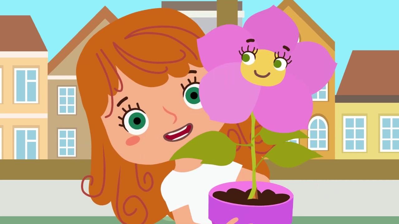 ЦВЕТОЧЕК - Песня мультфильм для детей про цветы для мамы ...