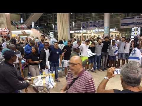 Welcoming new Ethiopian immigrants to Israel June 6 2017