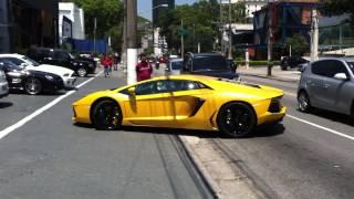 Lamborghini Aventador Brutal Sound In São Paulo - Brazil