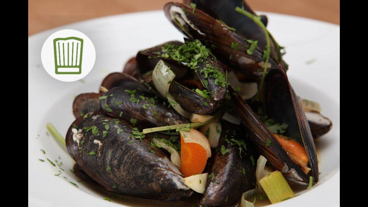 Muscheln kochen rheinische art