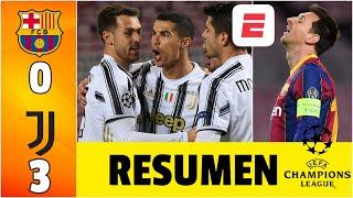 Barcelona 0-3 Juventus. ¡HISTÓRICO! Cristiano le gana el grupo al Barça de Messi | Champions League