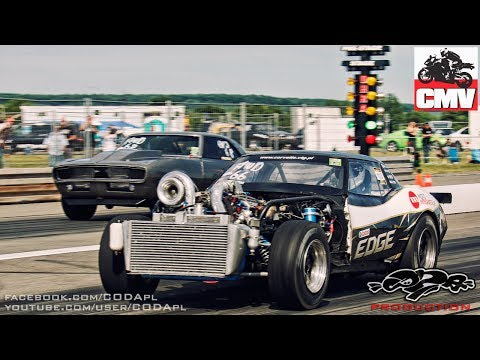 The most spectacular race at KOG 2014 - VTG Chevrolet Corvette vs VTG Camaro Bi-Turbo