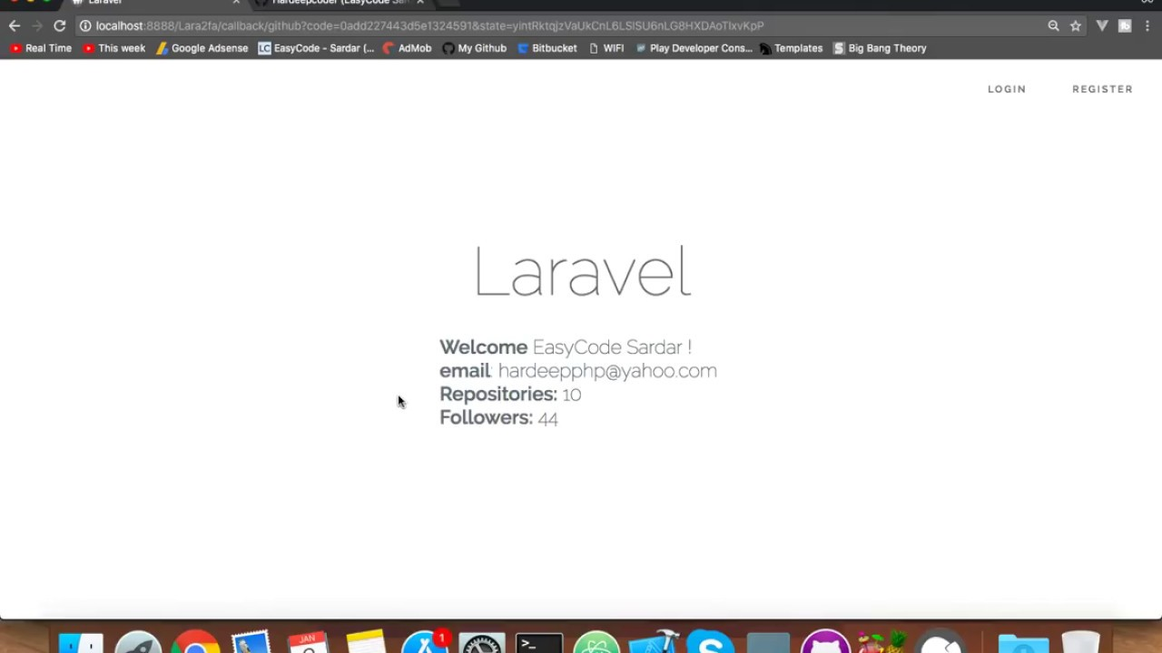 [DEMO] How to login with GitHub in Laravel || socialite tutorial