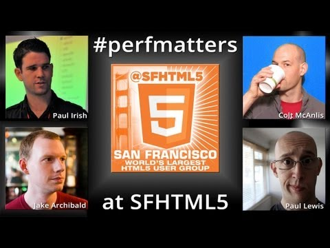 Raw feed for #perfmatters LIVE at SFHTML5