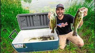 STOCKING My POND with Bass I CAUGHT while FISHING!!!