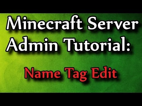 how to make a name tag in minecraft pe
