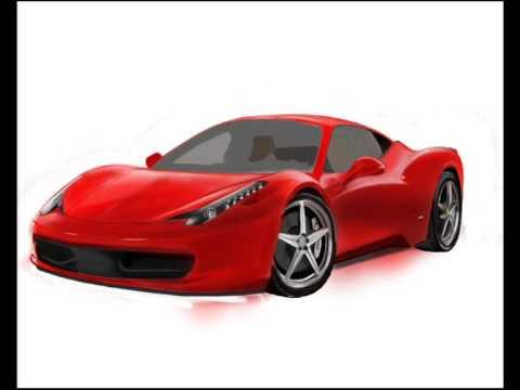 Dessin Ferrari 458 Painting Youtube