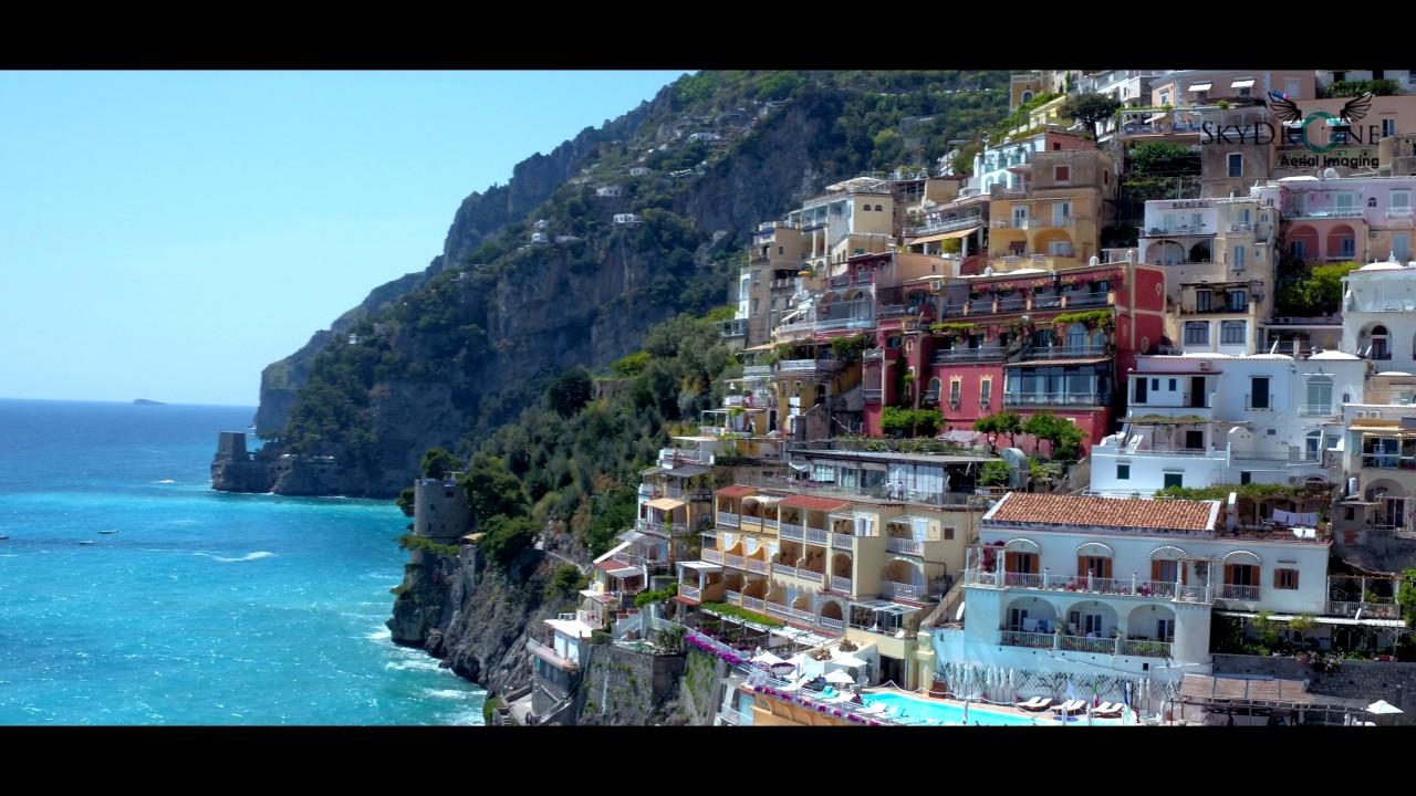 Aerial Reel Positano, Amalfi Coast Southern Italy - YouTube