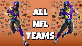 ALL NFL SKINS WITH ALL TEAM COLOR EDIT STYLES IN FORTNITE