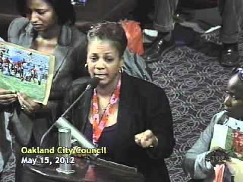 Blueford family speaks to Oakland City Council, part 1
