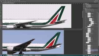 Airline Livery Painting in Photoshop