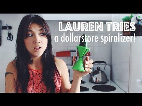 LAUREN TRIES: A DOLLARSTORE SPIRALIZER