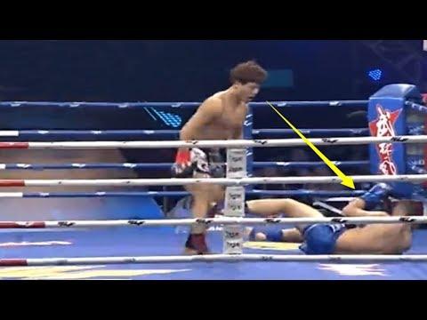中国大级别拳王郝光华被击倒后爆发,竟将6次冠军的强敌残暴KO了