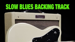 Slow Blues Backing Track - D minor to F, 85 BPM