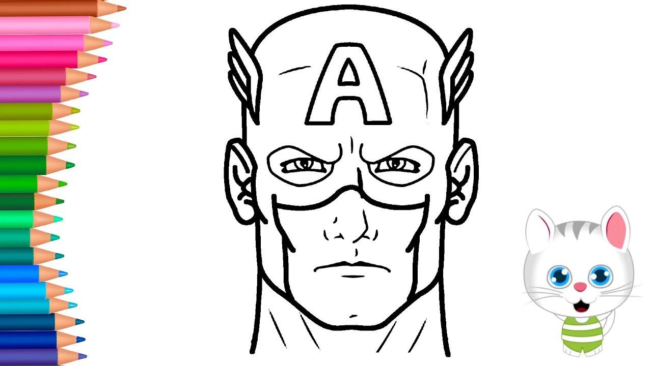 Imagenes Capitan America Para Colorear Captain America