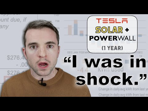 TESLA SOLAR + POWERWALL   1 YEAR REVIEW