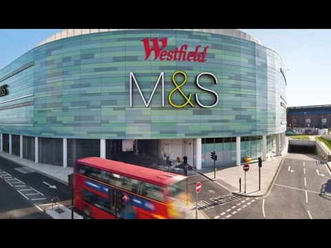 Westfield Shopping /Mall Centre London, UK (4K Ultra HD video)