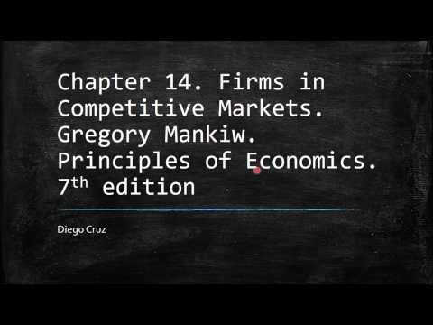 Chapter 14. Firms in Competitive Markets. Gregory Mankiw. Principles of Economics.