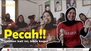 PECAH! terjadi di tengah lagu, konten latihan bawakan lagu requestan I Edisi latihan #qasidah#ezzura