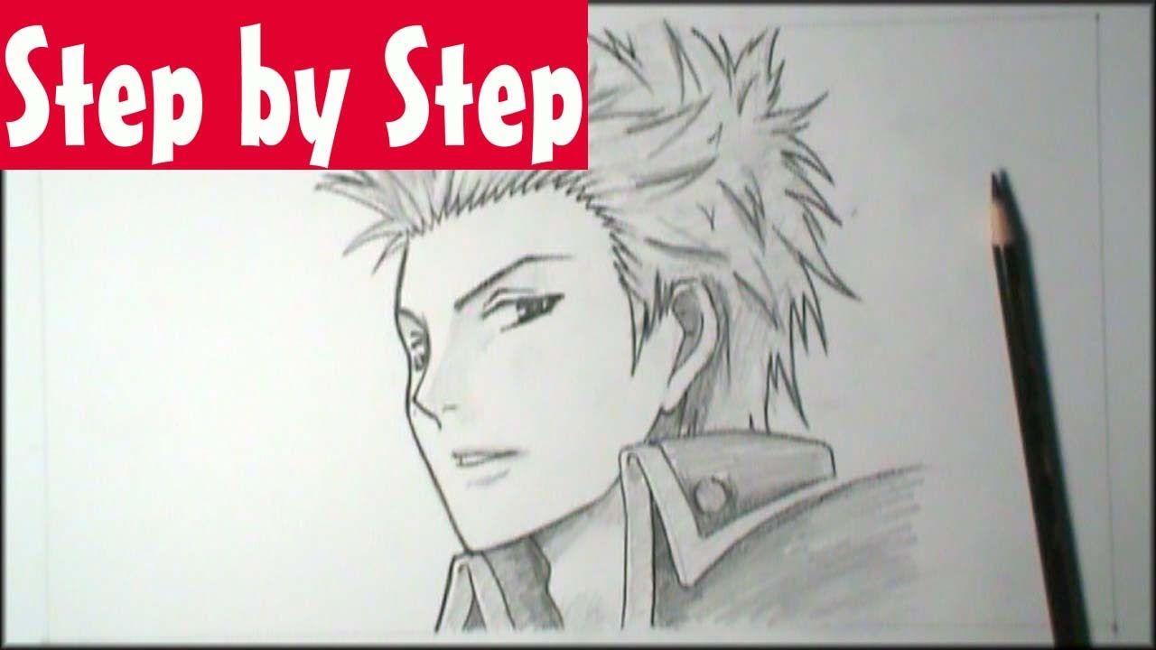 How To Draw Manga Male Face 3 4 View Step By Step Tutorial Youtube