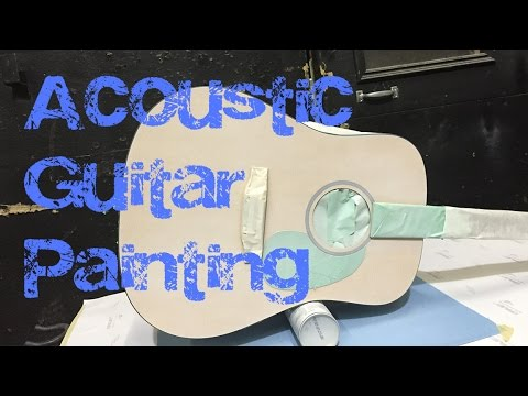 Acoustic Guitar Airbrush Job: Base Coat