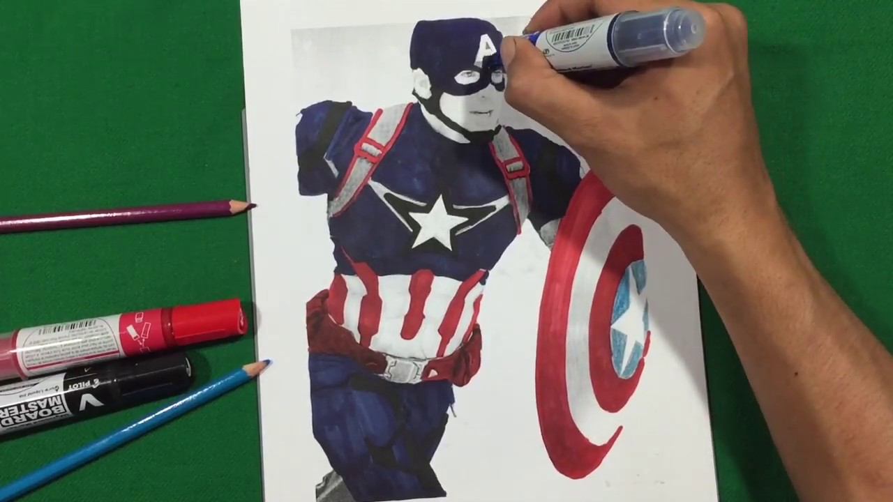 CAPTAIN AMERICA CIVIL WAR SUIT Coloring Pages SAILANY Coloring Kids ...