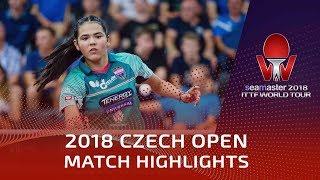 Matilda Ekholm vs Adriana Diaz | 2018 Czech Open Highlights (R16)