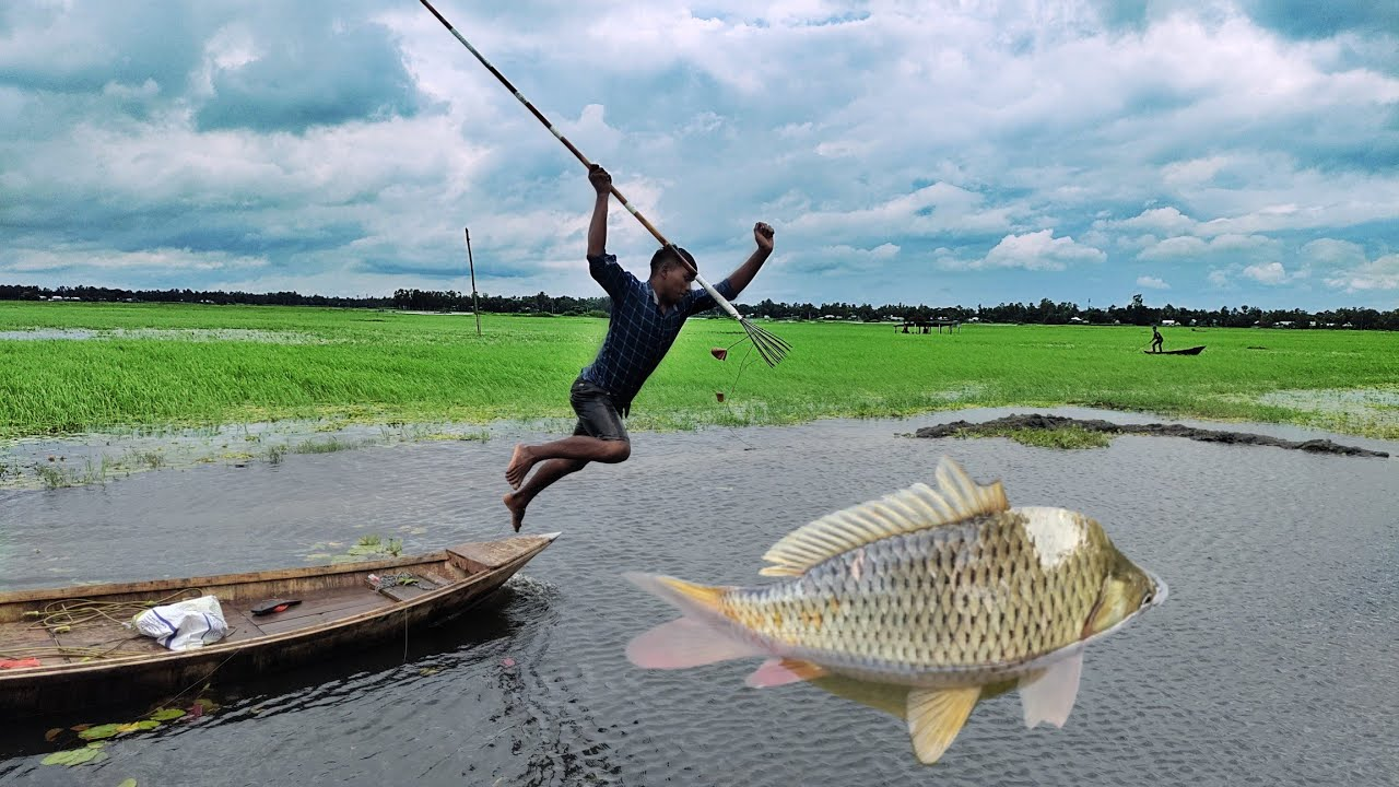 Best Boat Fishing➡️Fast Trap Can Lot Of Big Fish💖Bamboo Crossbow Fishing By Boat🖤Big Fish Catching