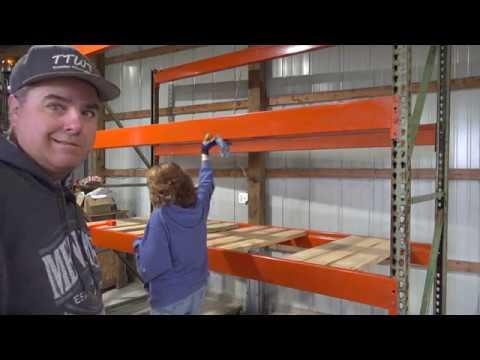 Cheap Storage!  Pole Barn Pallet Racking