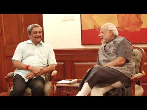 Goa CM Manohar Parrikar calls on PM Modi